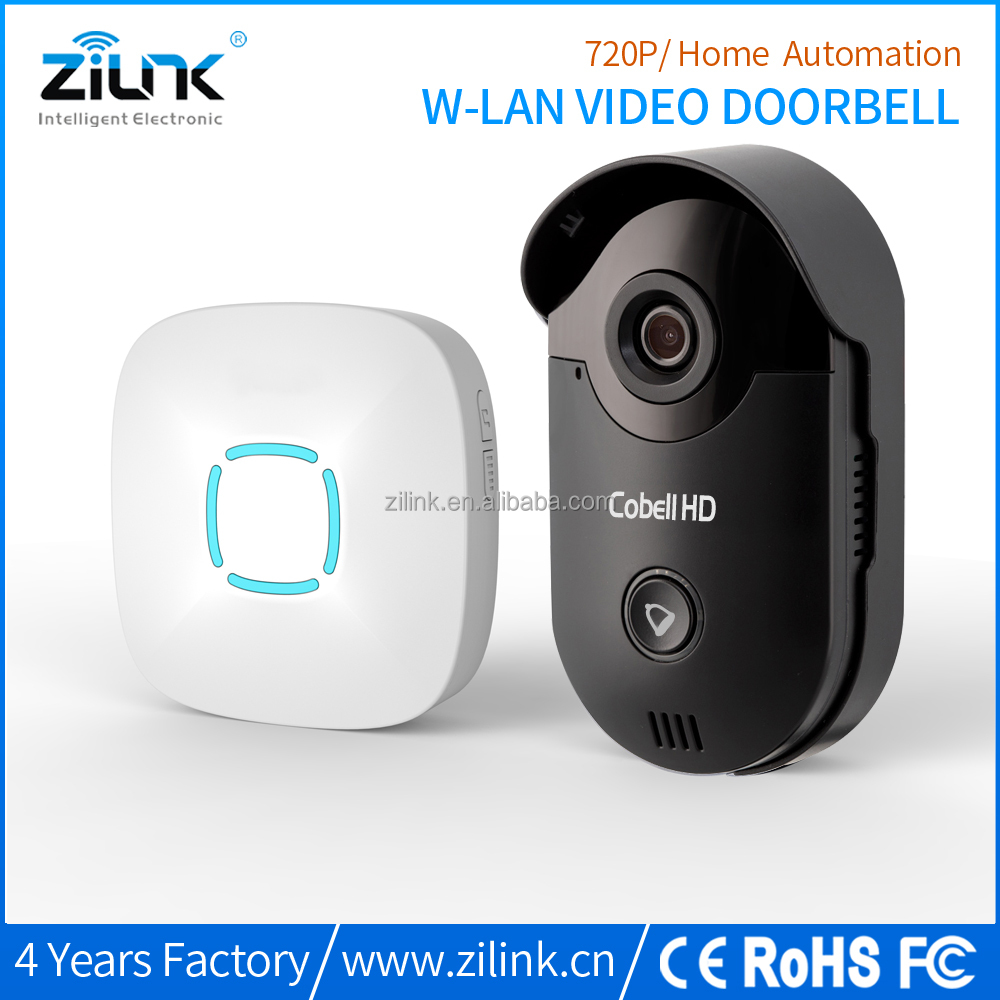 HD 720P wireless security video intercom door entry wifi doorbell camera