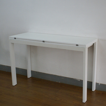 expandable white high gloss mdf Simple dining table