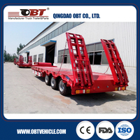 OBT Flat extendable WABCO Braking system Low bed trailer semi trailer for sale