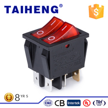 Plastic 6 legs starting power with lamp waterproof type rockter switch for Electric baking pan