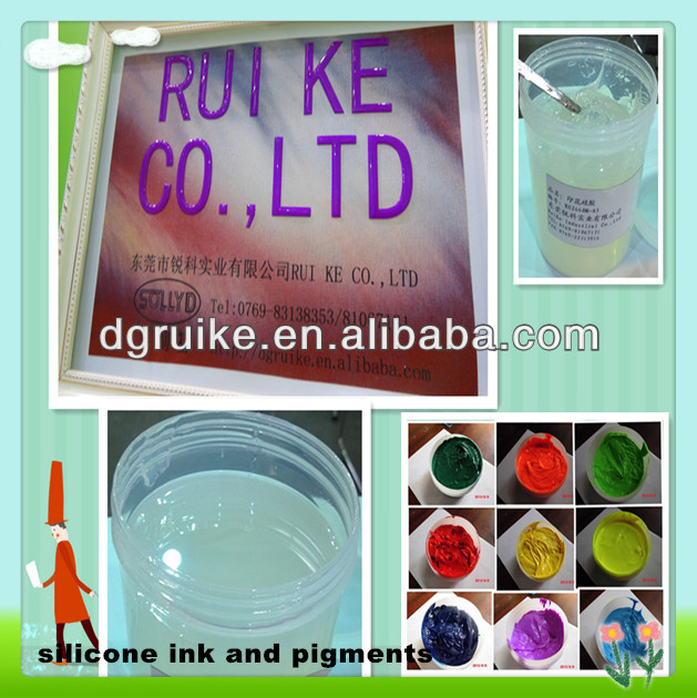 textile eco pigments for food grade silicone ink printing on T-shirt