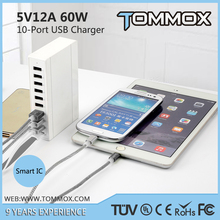 OEM Manufacturer high spped 5V 12A Multi USB charger station for iphone 5 6 6s