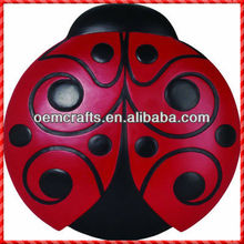 Promotional red coccinella garden stepping stones