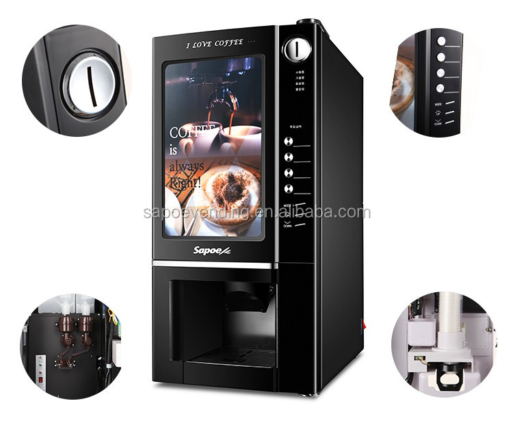 Commercial mini vending machines coin operated coffee machine