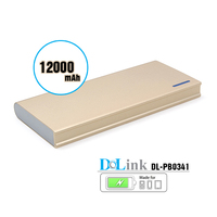 Battery charger for cell phone 12000mah super slim dual port power bank