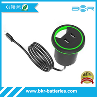 Wholesale Price Two Ports USB Table Charger within AC Cable