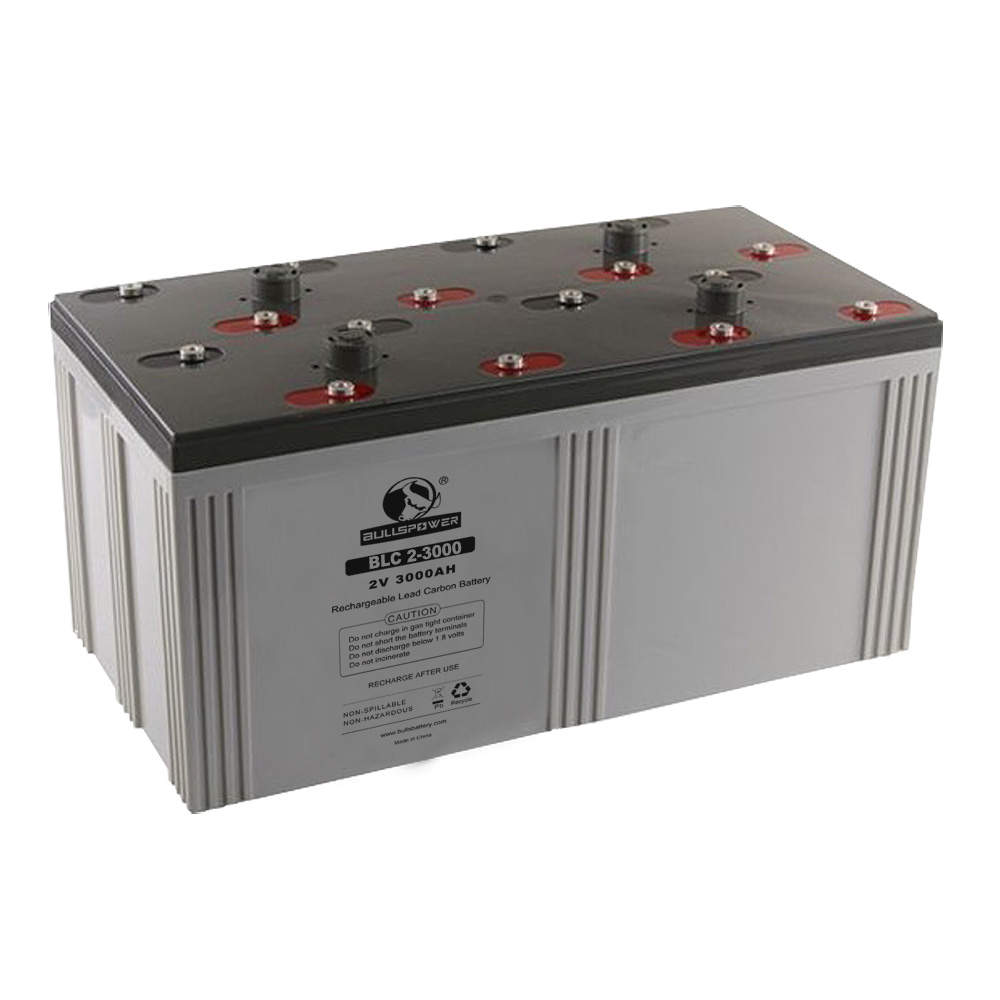 agm solar battery bank lead carbon deep cycle battery 12v 2v 3000ah 24V 48V for solar system