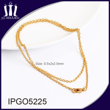 Factory promotion item stainless steel gold chain necklace
