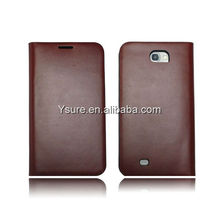 high quality genuine real leather case for sumsung galaxy note 2 i9220 N7100