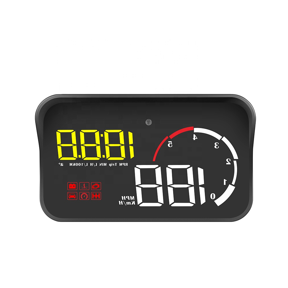 New Car Head Up Display <strong>H10</strong> HUD OBD2 Windshield Display <strong>digital</strong> gauge Multifunction For Car