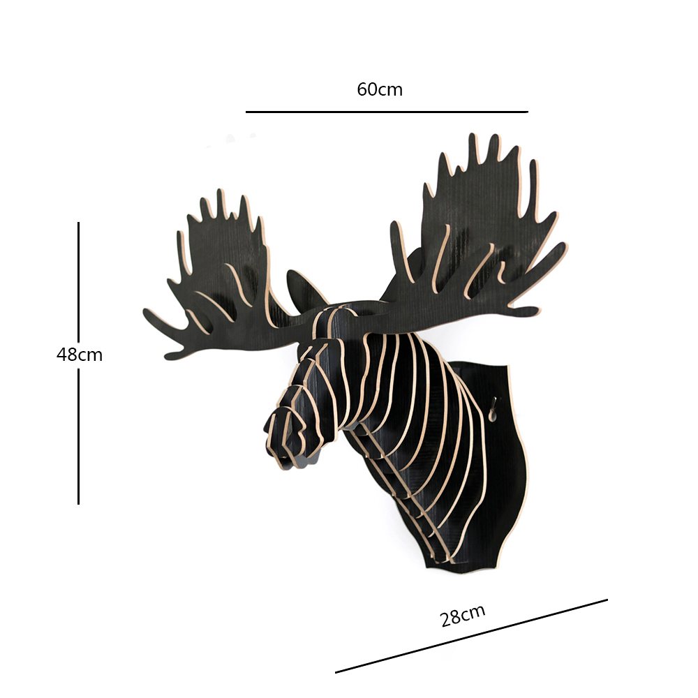 China wholesale wall mounted 3d wood moose head decoration