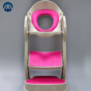 Hot Sale Wheat Fibre Kids Potty Ladder Training Seat With Double Layers
