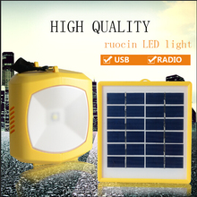 2016 NEW solar emergency light portable type li-lion battery 3.7v/1800mA*2pc 1W/120LM