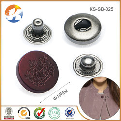 Fashion Paint Black Brown Metal Engraved Snap Button