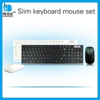 Promotional wholesale slim wireless keyboard and mouse combo for Android smart tv