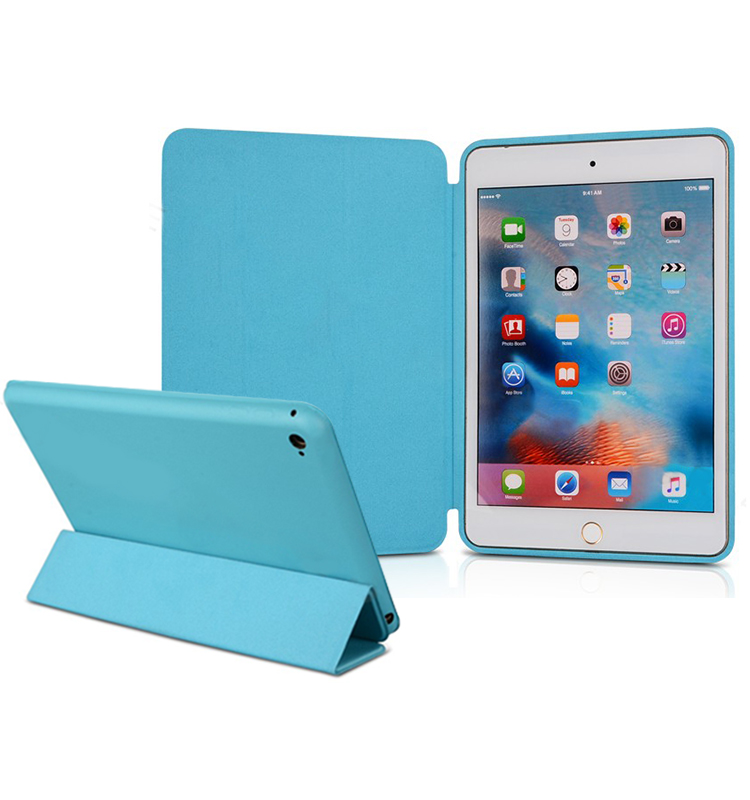 for ipad mini 4 case folding,ultra slim leather full protect smart cover case for ipad mini