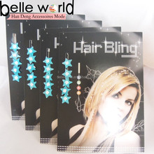 blue color star hair ornaments hair bling hair jewelry