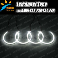 126 leds 7000K White 131mm SMD Led Car Angel Eyes Halo Ring Light kit for BMW E36 E38 E39 E46 3 5 7 Series Xenon Headlight SMD