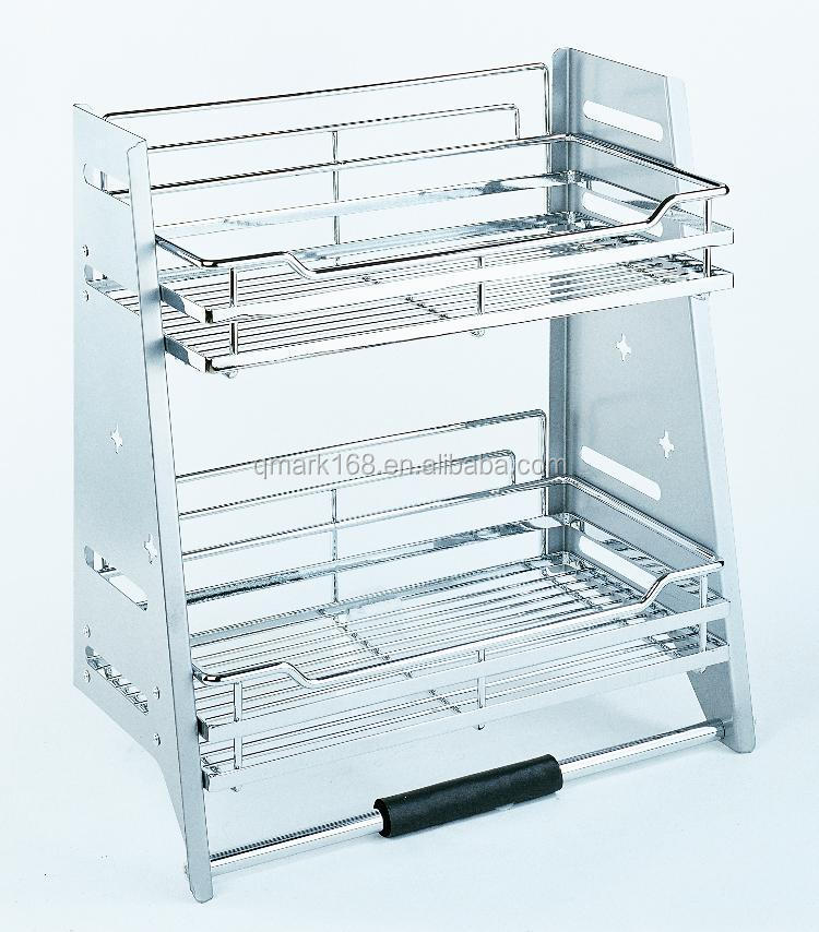 Metal Kitchen Pull Out Magic Elevator Lifter Wired Storage Drawer Basket Units With Soft Closing ( 900.990.800 )