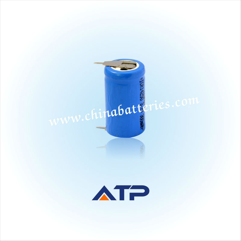 High performance i-ion 14250 300mah 3.7v battery / 14250 rechargeable battery / icr14250