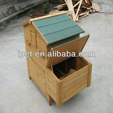 Gable roof wooden chicken cage with big nesting box CC014