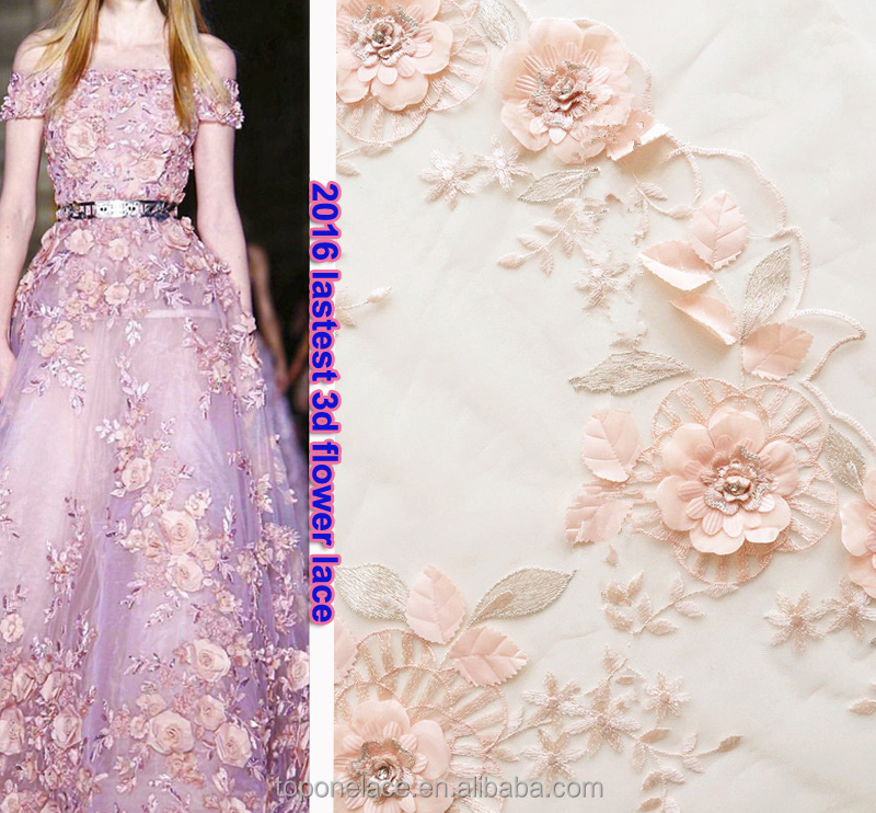 best price flower embroidery tulle fabric/lace evening dress/korean lace
