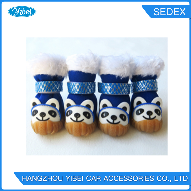 fashion colorful winter pet dog shoes