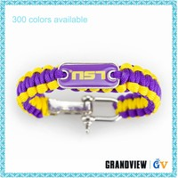 China 7 Strand polyester cord 550 bracelet paracord with logo