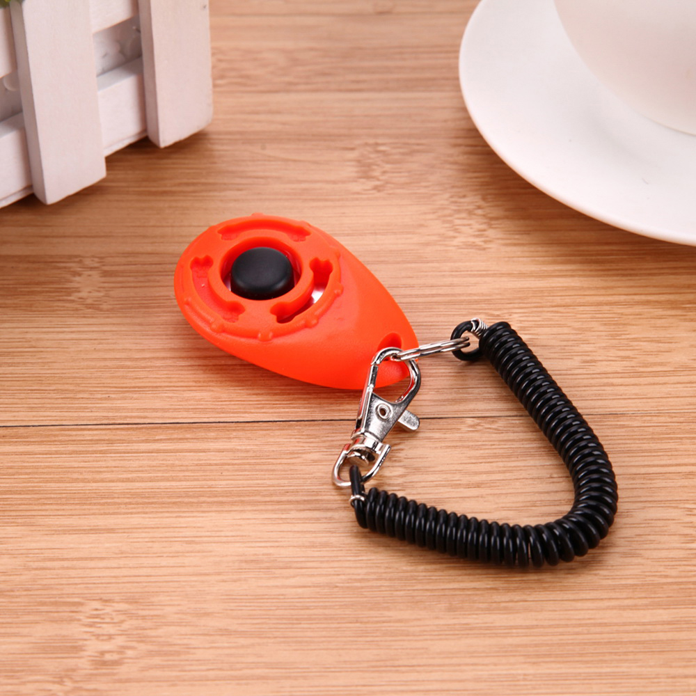 Adjustable Sound Key Chain And Wrist Strap DogTrain Click Pet Trainer Pet Dog Training Clicker