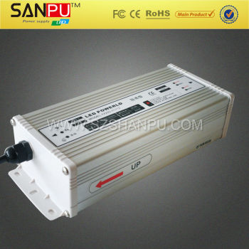 CE&ROHS approved 16.5A 200W 220v 12v rainproof switch power supply for led lights