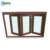 NZS4211 Vinyl Wood Grain Color Hurricane Impact Bi-Fold Glaze Folding PVC Window