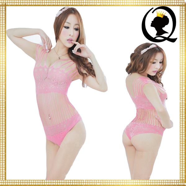 Lovely Ladies Japan Sex Girls Photos Open Lingerie Petals and Strings Crotchless Bodystocking