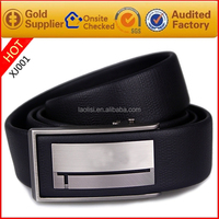 Automatic stainless steel buckle Black genuine leather fashion men belts
