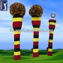 Customized Wool Arcylic Knitted Golf Head Covers