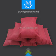 hot sale disposable wine red pillow with cheap rice and flame retardant