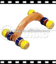 Wooden Rolling Ball Mix Color Rubber Foot Massager