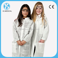 Cheap school disposable kids lab coat for children in lab