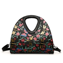 2017 Newest Pictures Women Tote Bag Fashion Butterfly Embroidered Handbag Embroidered Butterfly Dragonfly ladies handbag