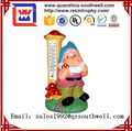 Garden Gnome with Thermometer and Toadstools - Garden Ornament