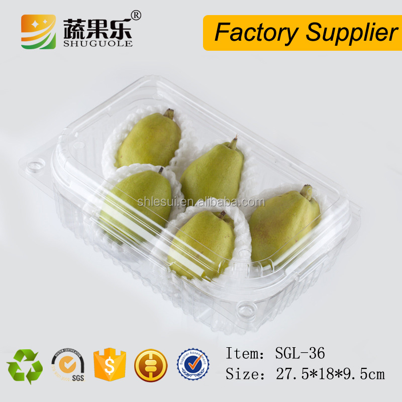 Disposable fruit salad plastic packaging box