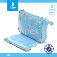 Bule Travel Bag Cosmetic Bags With Compartments
