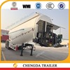 cement powder tanker transport 3 axle cement tanker for sale