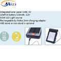 Solar energy reading light integral with ABS or IRON bracket