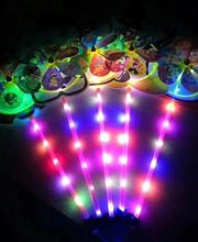 free shipping Children's toy cartoon Led light up color windmill flash animal led windmill