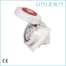 UNIZEN Consumer Goods 32Amp Ip67 Industrial Panel Mounted Angle Solar Plug Socket