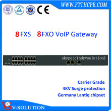 IP phone Adapter VoIP gateway with 8 FXO FXS port SIP SIM ATA voip adapter