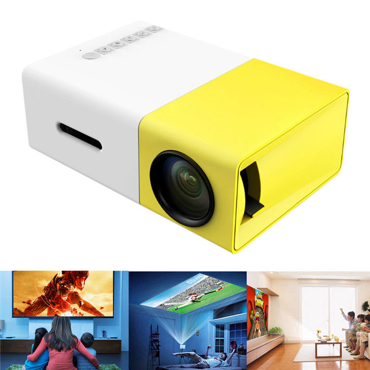 Mini Projector Portable Pocket Beamer SD30 Video beam best gift Toy For Kids parents SD USB Film Projector better YG-300