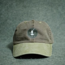 light grey cap baseball bleached dad daddy hats with printed logo