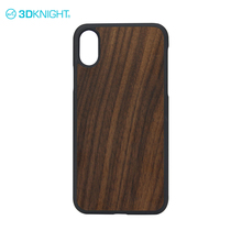 Walnut natural wood new cell with design case embossed color painting phone case for apple iphone x mobile phone cover