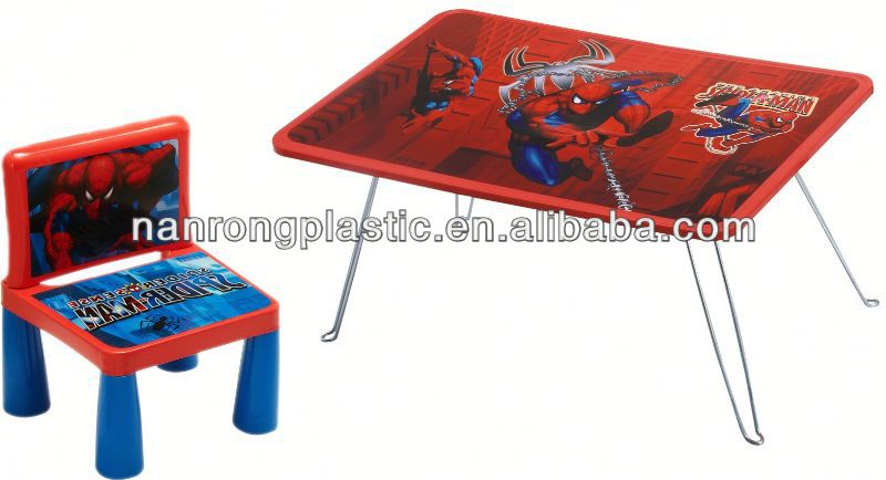 2013 New style wholesale high quality plastic kid table and chair lie fallow lounge chair